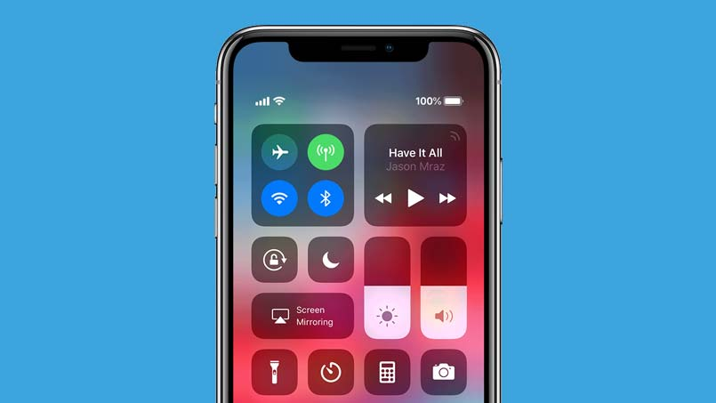access control center on iphone xr