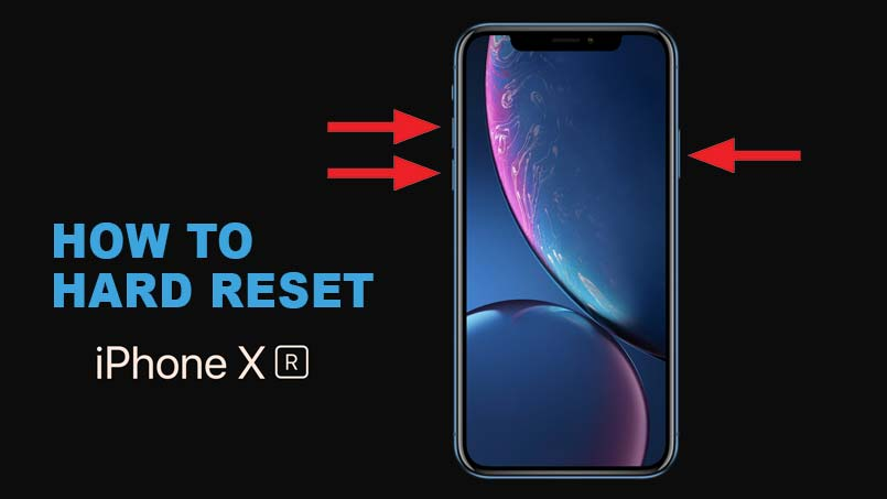 hard reset iphone xr