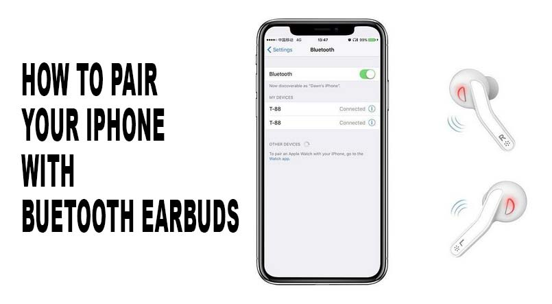 pair iphone xr with bluetooth earbuds