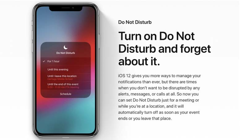 use do not disturb on iphone xr